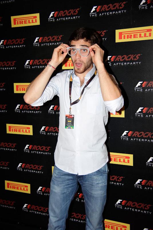 Жером Д'Амброзио на F1 Rocks Afterparty после Гран-при Бразилии 2011