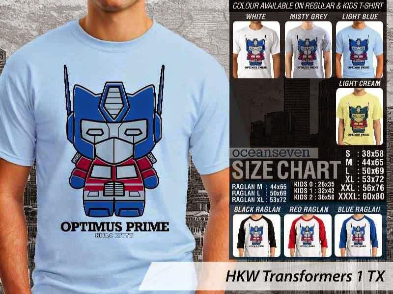 Jual Kaos kartun lucu Transformers 1 distro ocean seven