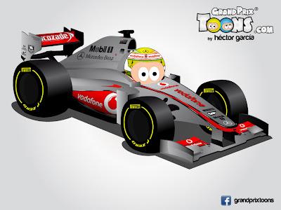 Серхио Перес McLaren MP4-28 Grand Prix Toons 2013