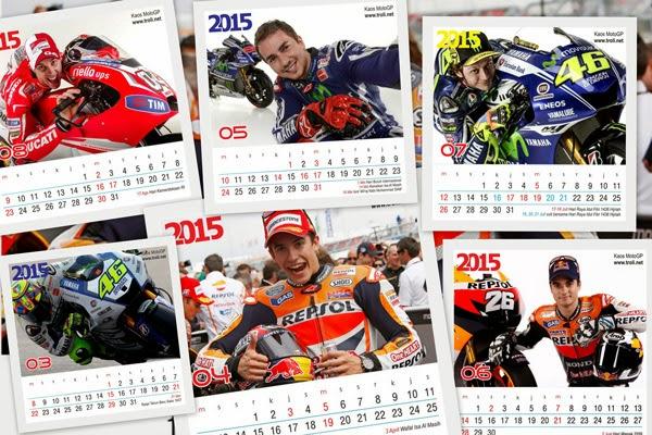 Download Kalender Meja 2015 MotoGP Series
