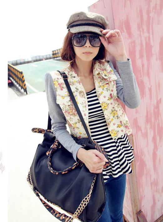 Womens Snake Leopard Handbag Shoulder Bags Totes Shopper Purses F2209-01