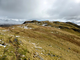 Looking back to Steel Fell on the way to Calf Crag
