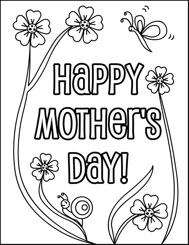 mother day coloring pages - Mother's Day Online Coloring Pages Page 1 The Color
