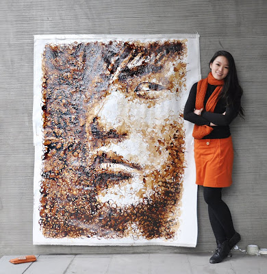 Jay Chou Portrait with Coffee Cup Stains Seen On www.coolpicturegallery.us