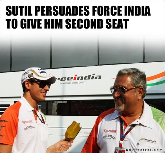 Адриан Сутиль убеждает Виджея Малью отдать ему место в Force India на сезон 2013 - фотошоп Sniff Petrol