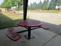 Picnic table dedicated in memory of Jack Foster 1998-2000