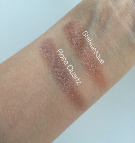 Seventeen Mono Eyeshadow review, Seventeen Mono eyeshadow swatches, Seventeen Mono eyeshadow Rose Quartz, Seventeen Mono Eyeshadow Statuesque,Seventeen Mono eyeshadow Rose Quartz swatch, Seventeen Mono Eyeshadow Statuesque swatch