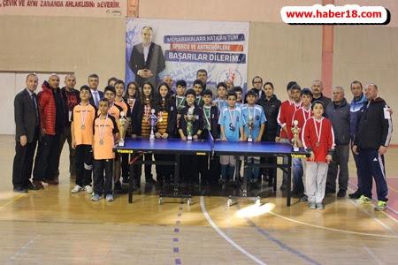 Okullararası Çankırı Yıldız Kız Erkekler Masa Tenisi Müsabakaları
