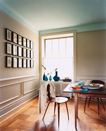 22 bunte raumideen decke streichen und tapezieren - Wohnzimmer streichen muster ...