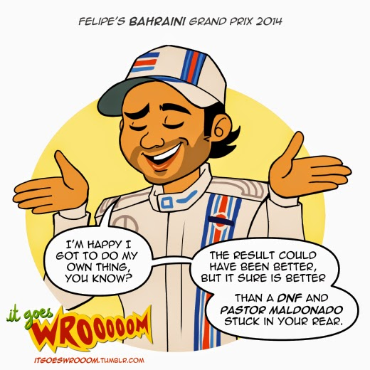 Фелипе Масса довоелен результатом - комикс It Goes Wrooom по Гран-при Бахрейна 2014