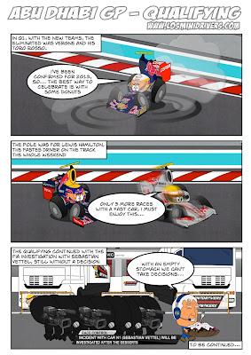 комиксы Los MiniDrivers по квалификации Гран-при Абу-Даби 2012