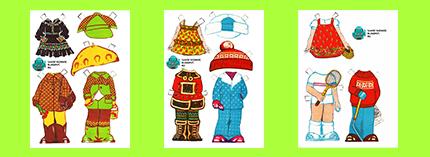 Бумажные куклы СССР Костюмы 1980х