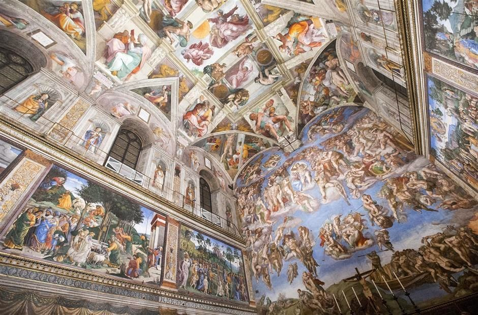 Sistine chapel undergoes technological makeover