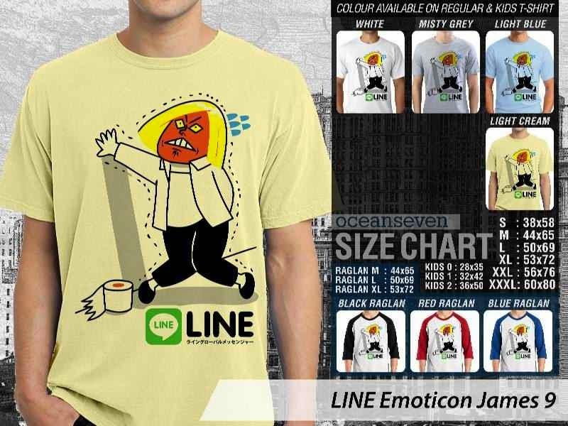 KAOS IT LINE Emoticon James 9 Social Media Chating distro ocean seven