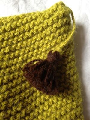 Paletots Drops point mousse alpaga vert tricot