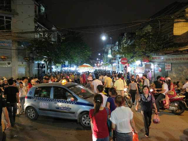 The chaotic streets of Hanoi's Old Quarter.