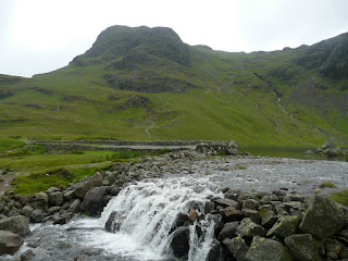 Stickle Ghyll flows out of Stickle Tarn