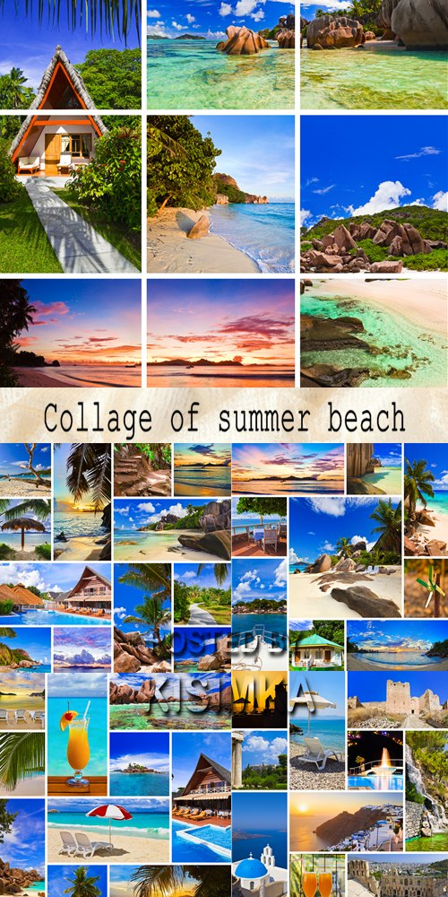 Stock Photo: Collage of summer beach