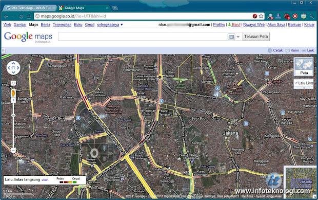 Lalu-lintas Jakarta di Google Maps