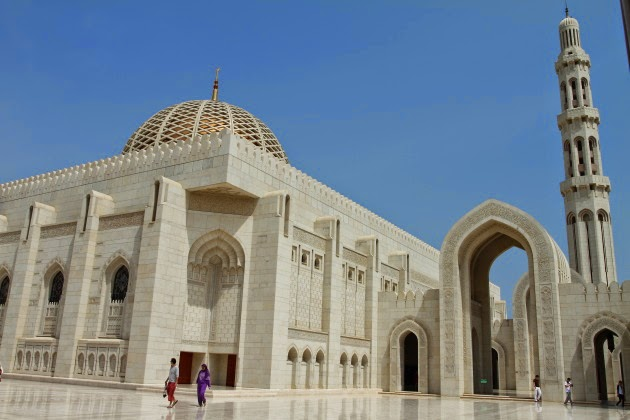 Beautiful Sultan Qaboos Grand Mosque, Muscat, Oman