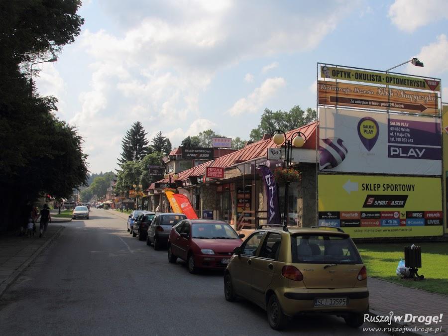 Wisła - główna ulica handlowa
