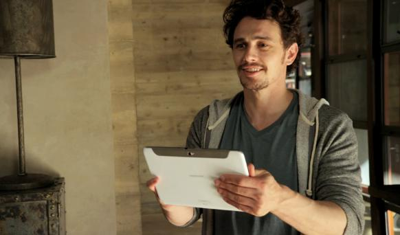 "James Franco ""The Ultimate Multitasker"" for the Samsung GALAXY Note 10.1"