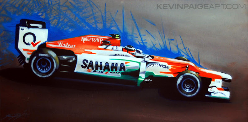 Нико Хюлькенберг Force India 2012 by Kevin Paige Art