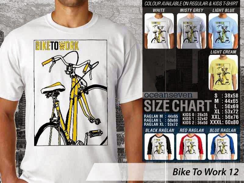 KAOS Bike To Work 12 Sepeda Lovers bicycle distro ocean seven