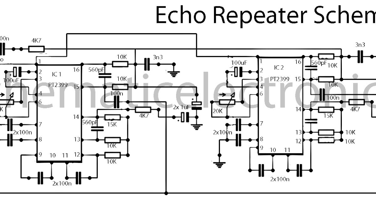 echo effect with ic pt2399 schematic