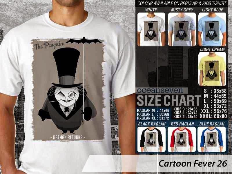 Kaos kartun Cartoon Fever 26 Batman distro ocean seven