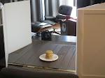 Larry's photo studio getting set up