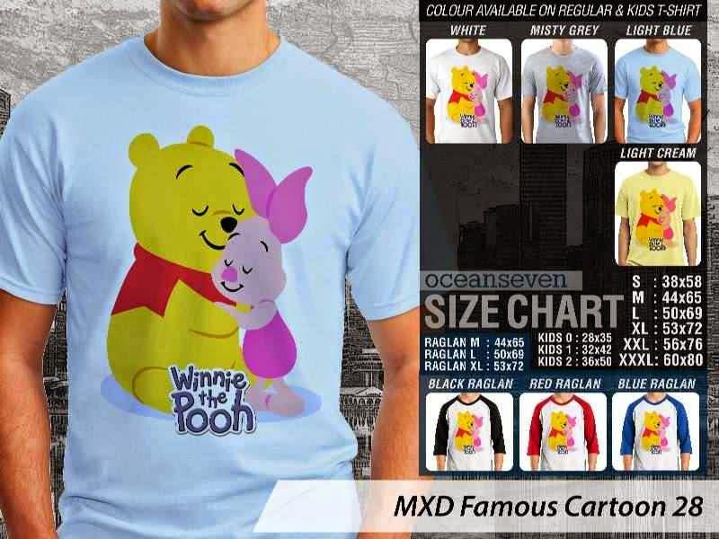 KAOS Winnie the Pooh 28 Kartun Lucu distro ocean seven