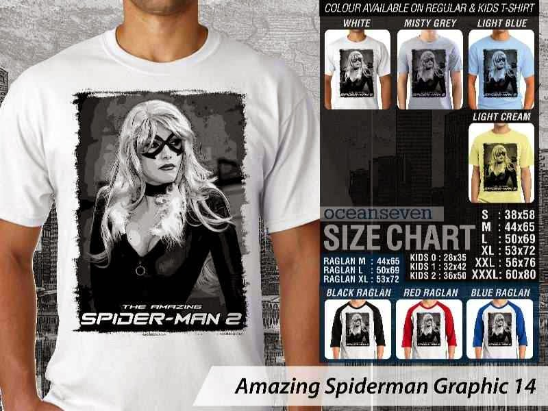 Kaos Film Superhero Amazing Spiderman Graphic 14 distro ocean seven