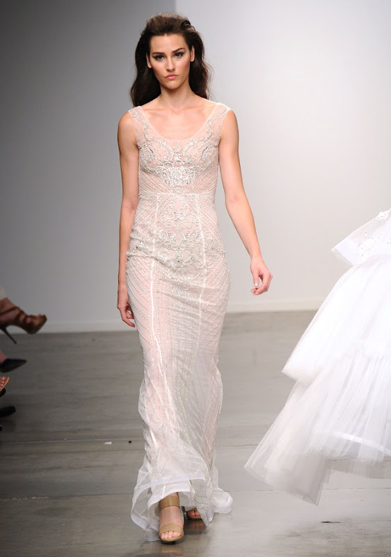 Model on the runway during the Philippa Galasso Spring 2015 Collection at the Fashion Palette Evening and Bridal Wear Spring Summer Show, held at Chelsea Pier 59 in New York City, Sunday, September 7, 2014. Photo by Jennifer Graylock-Graylock.com 917-519-7666