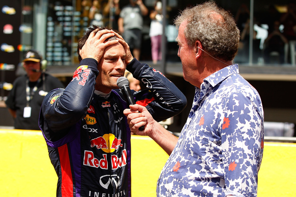 Марк Уэббер дает интервью Джереми Кларксону на фестивале Top Gear в Сиднее 10 марта 2013
