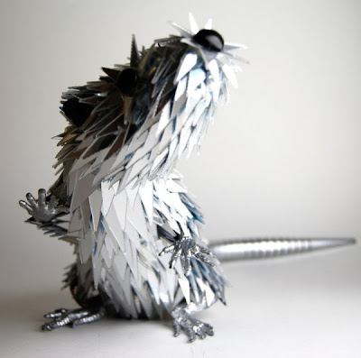 Animal Sculptures Made From Shattered CDs Seen On www.coolpicturegallery.us
