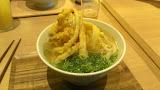 Gobo tempura udon (gobo is burdock root)