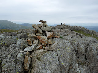 One of the cairns on Grey Knotts Summit.