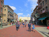 The Universal Studios theme park's re-creation of an American street