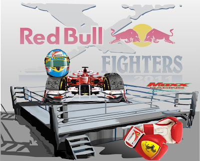 Фернандо Алонсо и Ferrari на ринге Red Bull Fighters Maxx Racing 2011