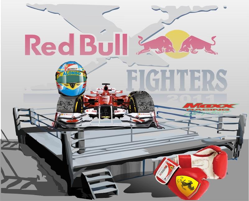 Фернандо Алонсо и Ferrari на ринге Red Bull Fighters Maxx Racing 2011