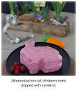 Zitronenkuchen mit Himbeercreme {topped with Eierlikör}
