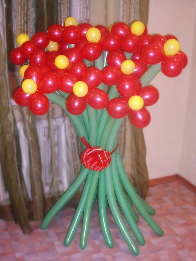 Букет из шариков видео