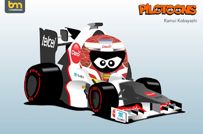 Sauber C31 Камуи Кобаяши pilotoons 2012