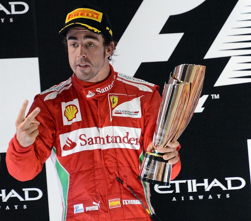 Фернандо Алонсо второй на подиуме Гран-при Абу-Даби 2012