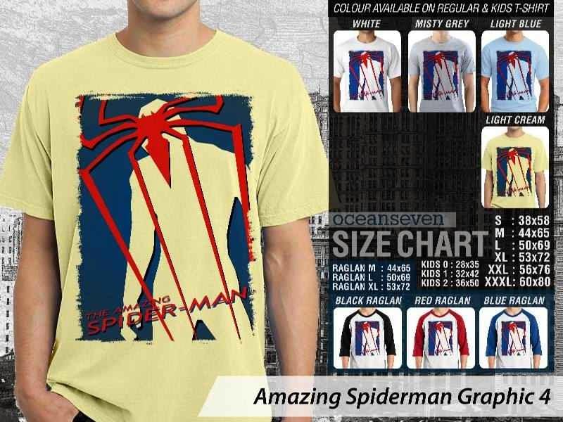 Kaos Film Superhero Amazing Spiderman Graphic 4 distro ocean seven