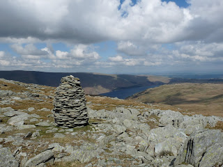Artlecrag Pike summit cairn and Haweswater