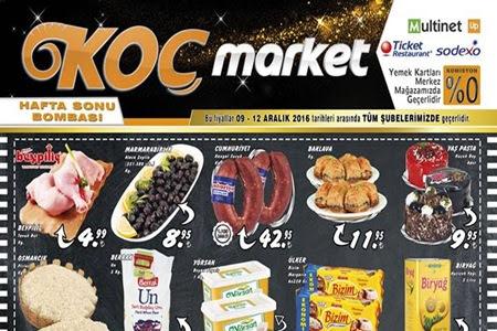 Koç Market 9-12 Aralık İndirimleri