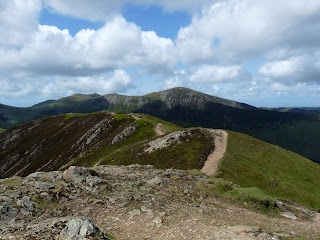The path from Causey Pike.