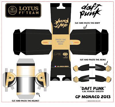 бумажная фигурка Daft Punk от Cirebox